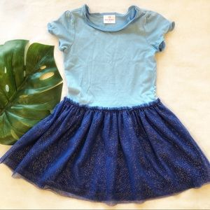 Hanna Andersson Sparkle Tutu Dress Size 120 EUC